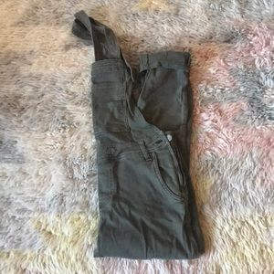 Olive Free People Overalls